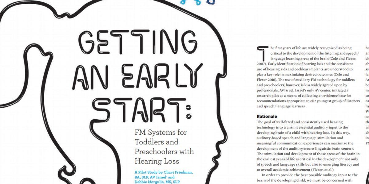 ילדים בגיל הרך עם לקות שמיעתית שומעים בעזרת מערכות FM